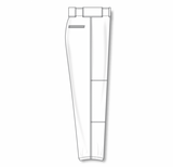 Athletic Knit (AK) BA1380A-000 Adult White Pro Baseball Pants