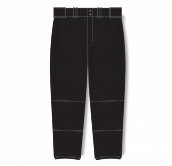 Athletic Knit (AK) BA1385L Ladies Black Pro Baseball Pants