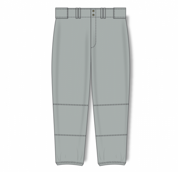 Athletic Knit (AK) BA1385L Ladies Grey Pro Baseball Pants