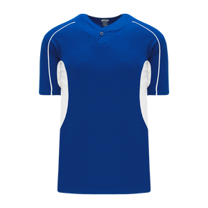 Athletic Knit (AK) BA1745-206 Royal Blue/White One-Button Baseball Jersey