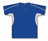 Athletic Knit (AK) BA1745A-206 Adult Royal Blue/White One-Button Baseball Jersey