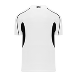 Athletic Knit (AK) BA1745-222 White/Black One-Button Baseball Jersey