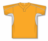 Athletic Knit (AK) BA1745-236 Gold/White One-Button Baseball Jersey