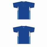 Athletic Knit (AK) BA1763-445 Royal Blue/White/Sky Blue One-Button Baseball Jersey