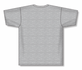 Athletic Knit (AK) BA1800 Heather Grey Pullover Baseball Jersey
