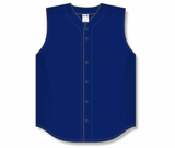 Athletic Knit (AK) BA1812-004 Navy Sleeveless Full Button Baseball Jersey
