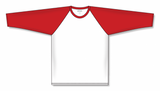 Athletic Knit (AK) BA1846 White/Red Pullover Baseball Jersey