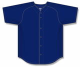 Athletic Knit (AK) BA5200 Navy Full Button Baseball Jersey