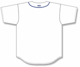 Athletic Knit (AK) BA5500-DET574 Detroit White Full Button Baseball Jersey