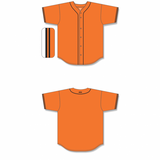 Athletic Knit (AK) BA5500-SF576 San Francisco Orange Full Button Baseball Jersey