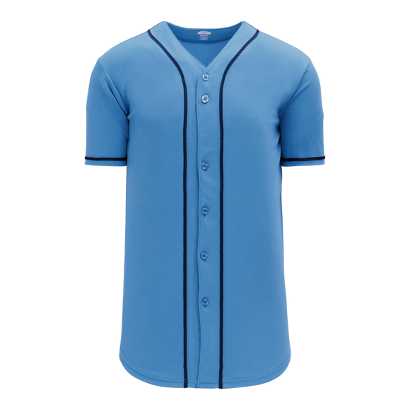 Athletic Knit (AK) BA5500-TB694 Tampa Bay Full Button Baseball Jersey