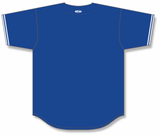 Athletic Knit (AK) BA5500A-TOR568 Toronto Royal Blue Adult Full Button Baseball Jersey