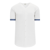Athletic Knit (AK) BA5500A-TOR569 Toronto White Adult Full Button Baseball Jersey