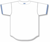 Athletic Knit (AK) BA5500 Toronto White Full Button Baseball Jersey