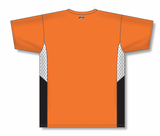 Athletic Knit (AK) BA563 Orange/White/Black Pullover Baseball Jersey