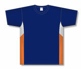 Athletic Knit (AK) S563 Navy/White/Orange Soccer Jersey