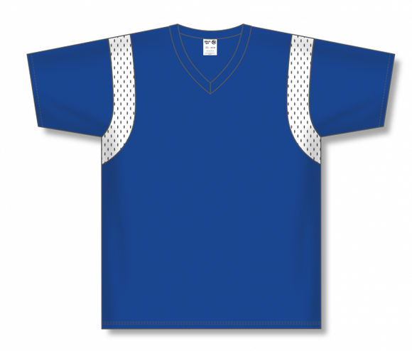 Athletic Knit (AK) BW569 Royal Blue/White Basketball Warmup Shirt
