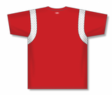 Athletic Knit (AK) BA569-208 Red/White Pullover Baseball Jersey