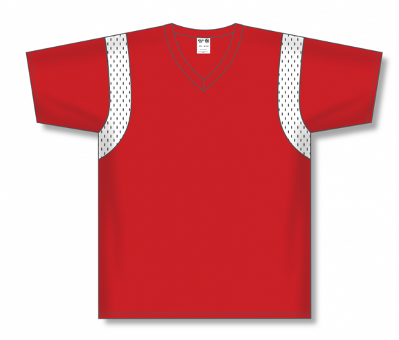 Athletic Knit (AK) BW569 Red/White Basketball Warmup Shirt