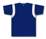 Athletic Knit (AK) BA569 Navy/White Pullover Baseball Jersey