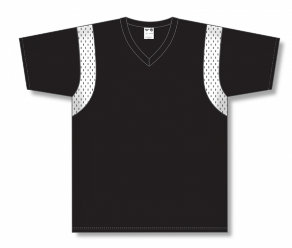 Athletic Knit (AK) BW569 Black/White Basketball Warmup Shirt