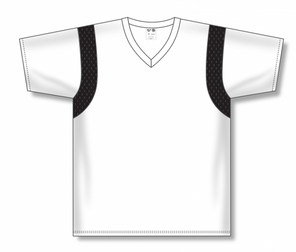 Athletic Knit (AK) BW569 White/Black Basketball Warmup Shirt