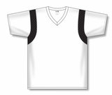 Athletic Knit (AK) BA569-222 White/Black Pullover Baseball Jersey