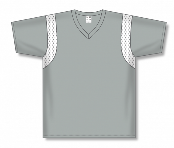 Athletic Knit (AK) BW569 Grey/White Basketball Warmup Shirt