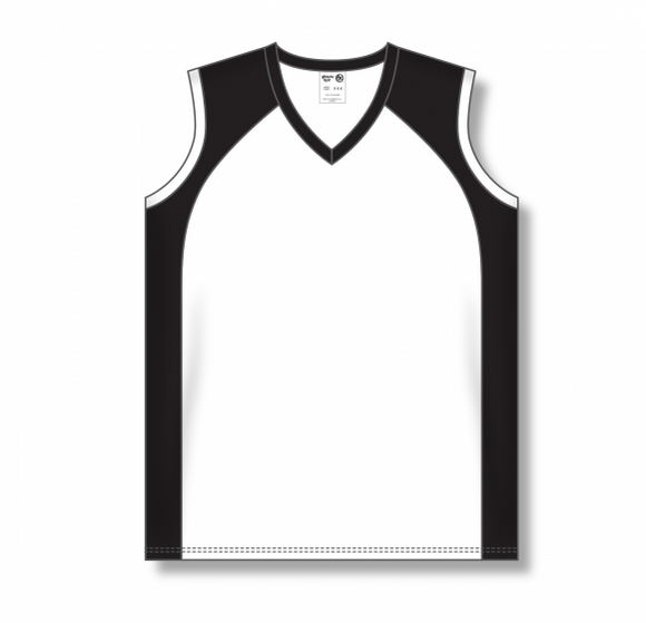 Athletic Knit (AK) BA601L Ladies White/Black Softball Jersey