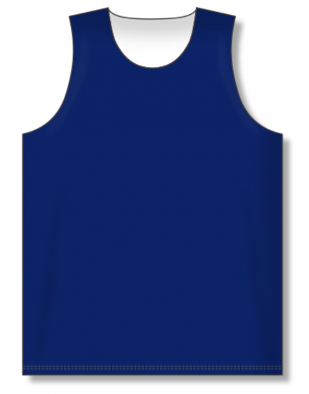 Athletic Knit (AK) BR1105 Navy/White Reversible League Basketball Jersey