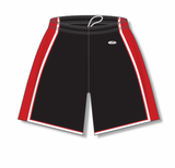 Athletic Knit (AK) BS1735-348 Black/Red/White Pro Basketball Shorts