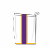 Athletic Knit (AK) BS1735-726 White/Purple/Gold Pro Basketball Shorts