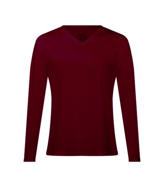 Score Sports 4220LW Women's Long Sleeve Burgundy Performance Tee