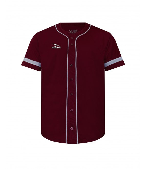Score Sports Pittsburgh C619 Burgundy/White Full Button Baseball Jersey