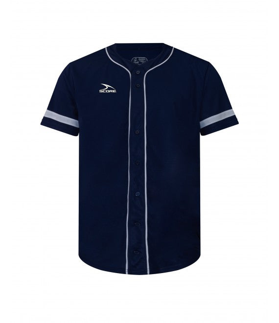 Score Sports Pittsburgh C619 Navy/White Full Button Baseball Jersey