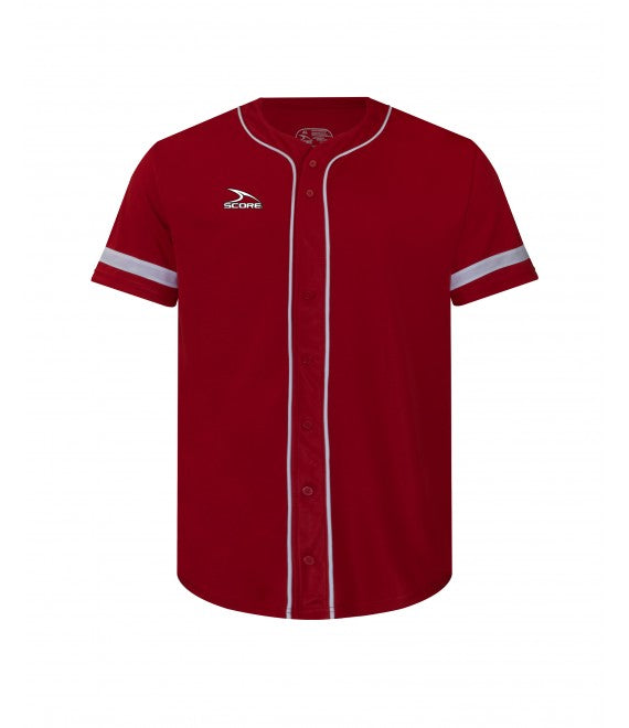 Score Sports Pittsburgh C619 Red/White Full Button Baseball Jersey