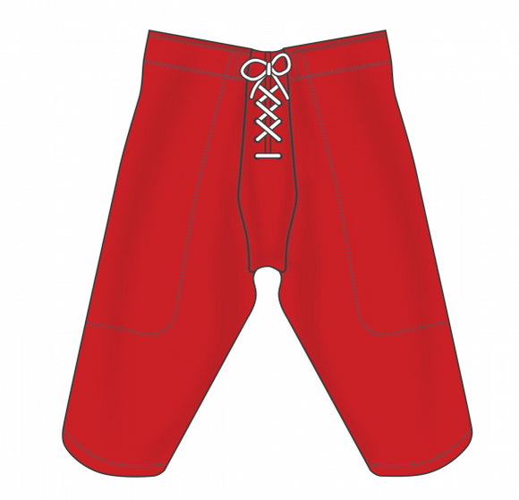 Athletic Knit (AK) F205 Red Pro Football Pants