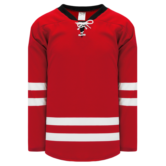 Athletic Knit (AK) H550BK-CAR527BK Pro Series - Knitted 2013 Carolina Hurricanes Red Hockey Jersey