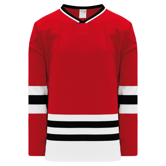 Athletic Knit (AK) H550BK-CHI304BK Pro Series - Knitted Chicago Blackhawks Red Hockey Jersey