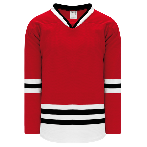 Athletic Knit (AK) H550BK-CHI364BK Pro Series - Knitted 2007 Chicago Blackhawks Red Hockey Jersey