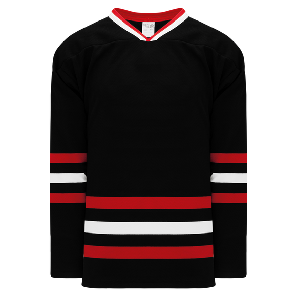 Athletic Knit (AK) H550BK-CHI614BK Pro Series - Knitted New Chicago Blackhawks Third Black Hockey Jersey