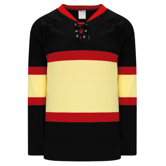 Athletic Knit (AK) H550BK-CHI715BK Pro Series - Knitted Chicago Blackhawks Winter Classic Black Hockey Jersey