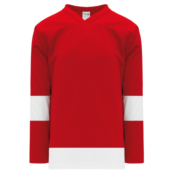 Athletic Knit (AK) H550BK-DET202BK Pro Series - Knitted Detroit Red Wings Red Hockey Jersey