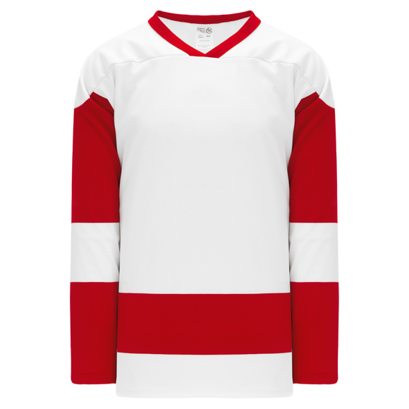 Athletic Knit (AK) H550BK-DET203BK Pro Series - Knitted Detroit Red Wings White Hockey Jersey