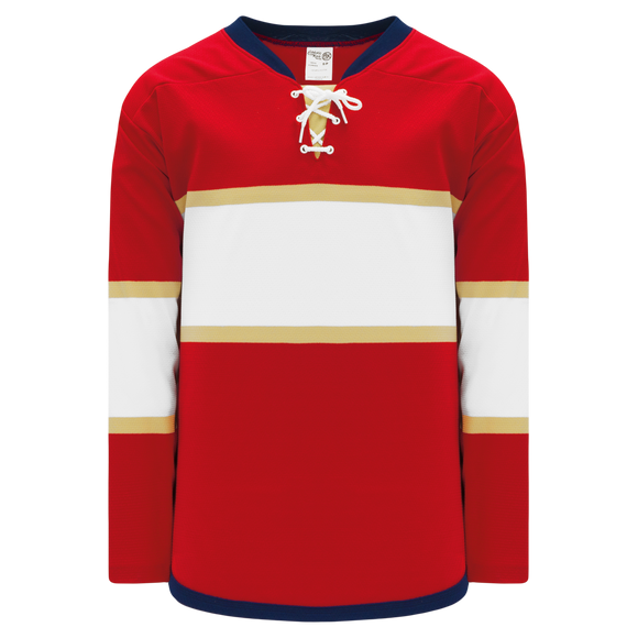 Athletic Knit (AK) H550BK-FLO668BK Pro Series - Knitted 2016 Florida Panthers Red Hockey Jersey