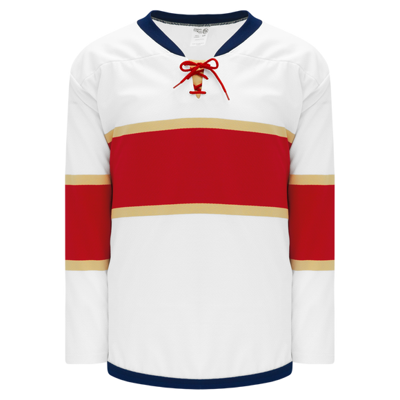 Athletic Knit (AK) H550BK-FLO669BK Pro Series - Knitted 2016 Florida Panthers White Hockey Jersey