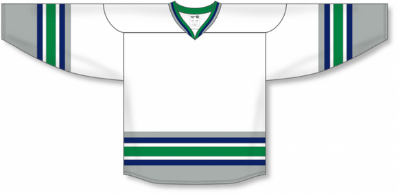 Athletic Knit (AK) H550B New 1992 Hartford Whalers White Hockey Jersey