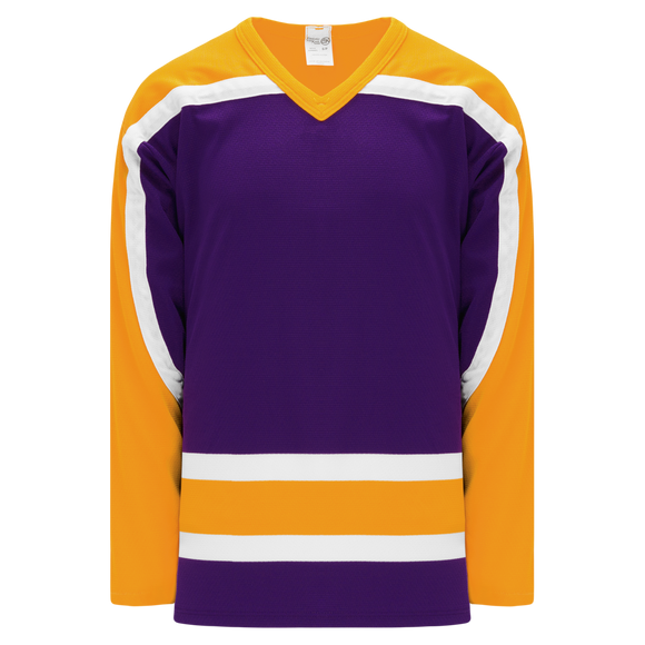 Athletic Knit (AK) H550BK-LAS751BK Pro Series - Knitted Vintage Los Angeles Kings Purple Hockey Jersey