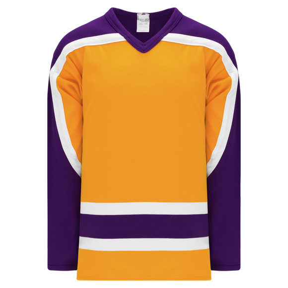 Athletic Knit (AK) H550BKY-LAS752BK Pro Series - Youth Knitted Vintage Los Angeles Kings Gold Hockey Jersey
