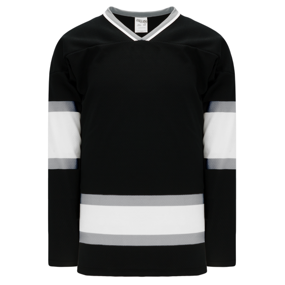 Athletic Knit (AK) H550BK-LAS941BK Pro Series - Knitted Old Los Angeles Kings Black Hockey Jersey